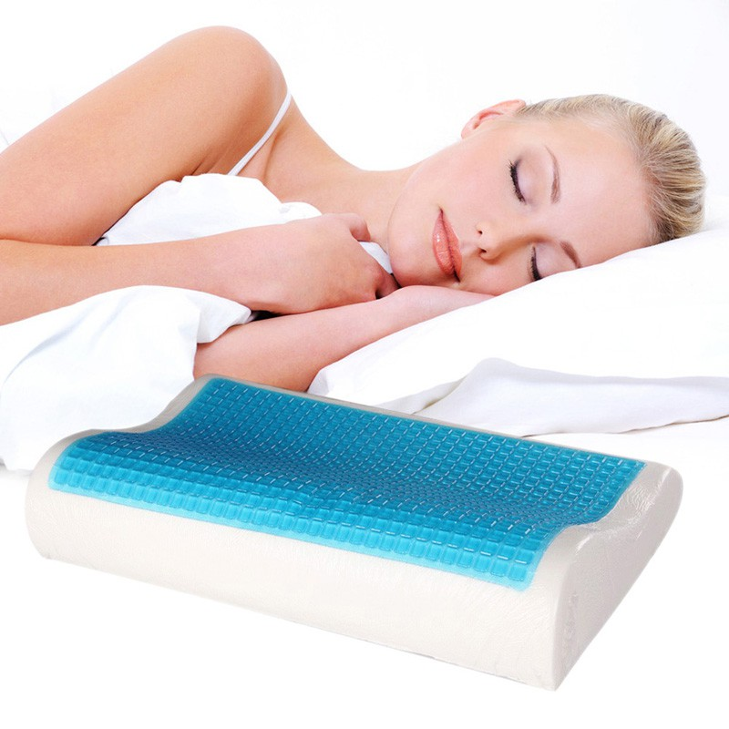 memory-foam-curved-sleeping-pillow-with-gel